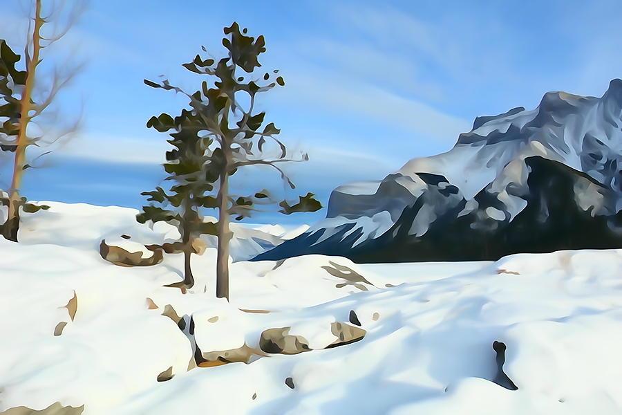 Lone Pines On Lakeshore by Greg Hammond