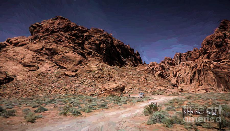Valley Of Fire Photograph - Lone Rock Road Overton Nevada  by Chuck Kuhn