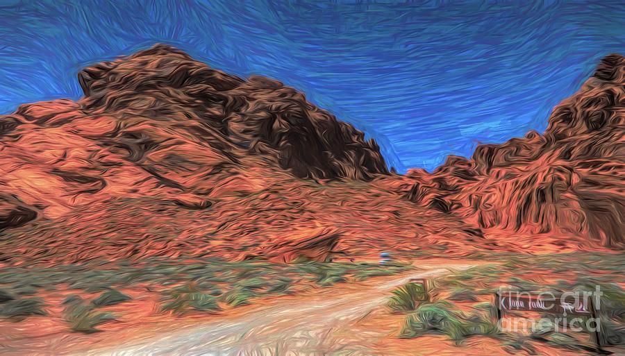 Valley Of Fire Photograph - Lone Rock Road Paint  by Chuck Kuhn