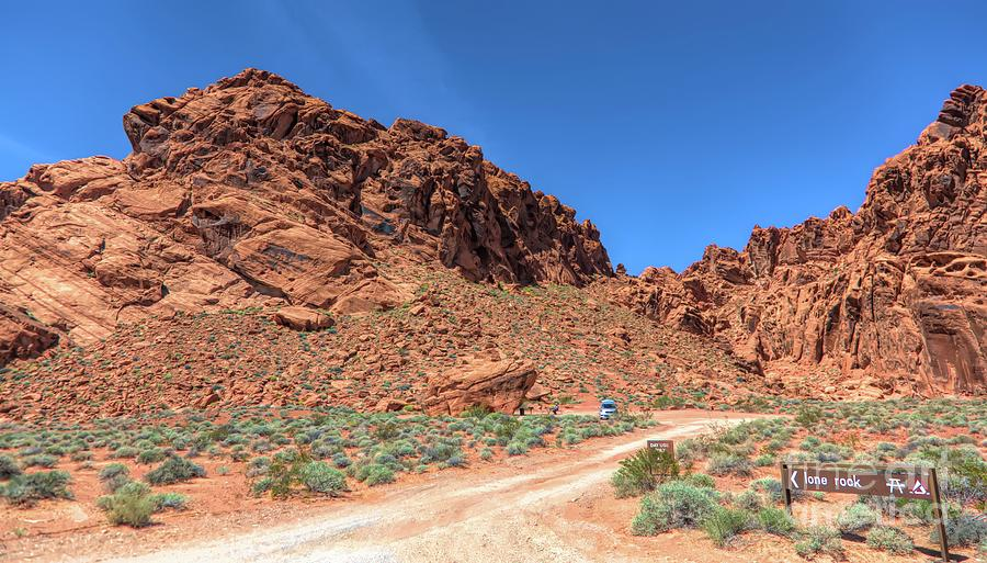Valley Of Fire Photograph - Lone Rock Valley Of Fire  by Chuck Kuhn