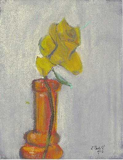 Flowers Painting - Lone Rose by Elizabeth Sartell-Beamer