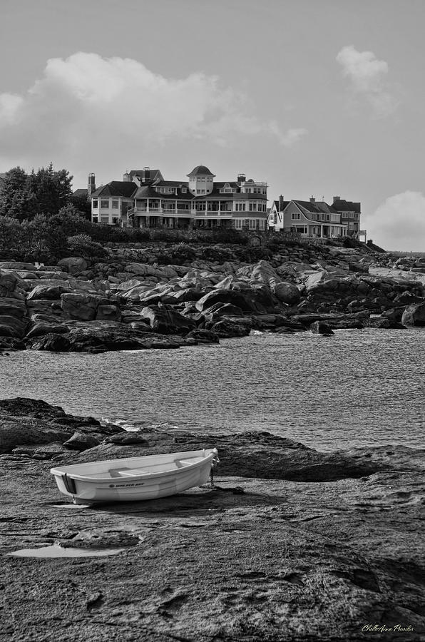 Landscape Photograph - Lone Row Boat by ChelleAnne Paradis