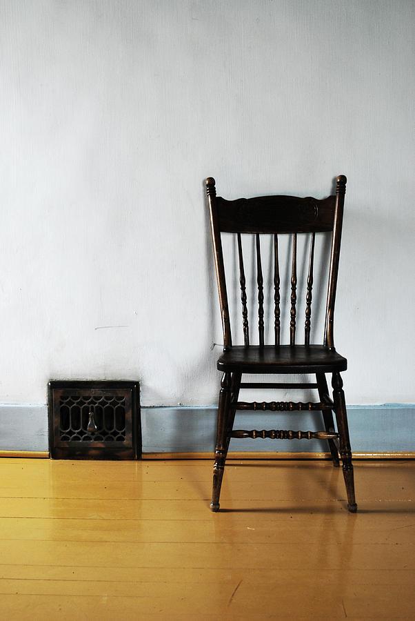 Seat Photograph - Lone Seat by Larysa  Luciw