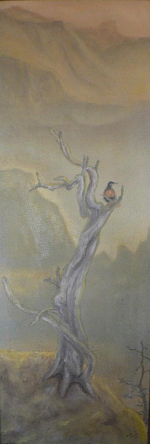 Bird Painting - Lone Sentinel by Dan Bozich