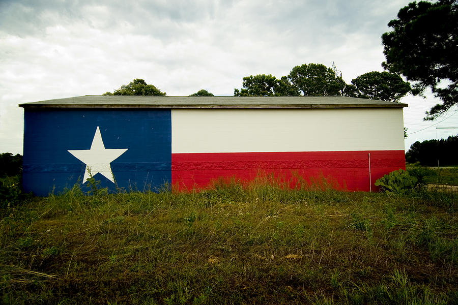 Red Photograph - Lone Star Mural by John Gusky