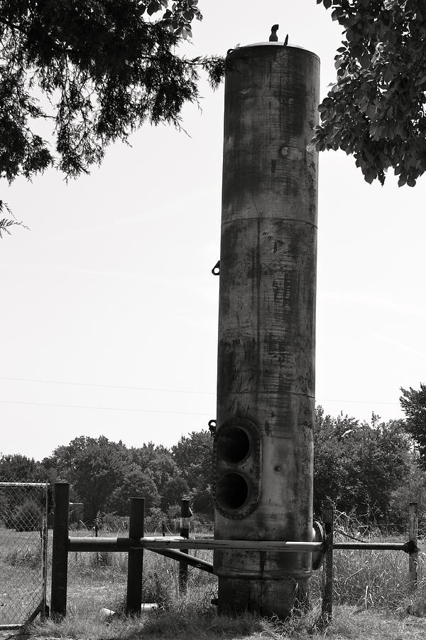 Metal Photograph - Lone Tank by PhotoPhotopia Melody Fulton