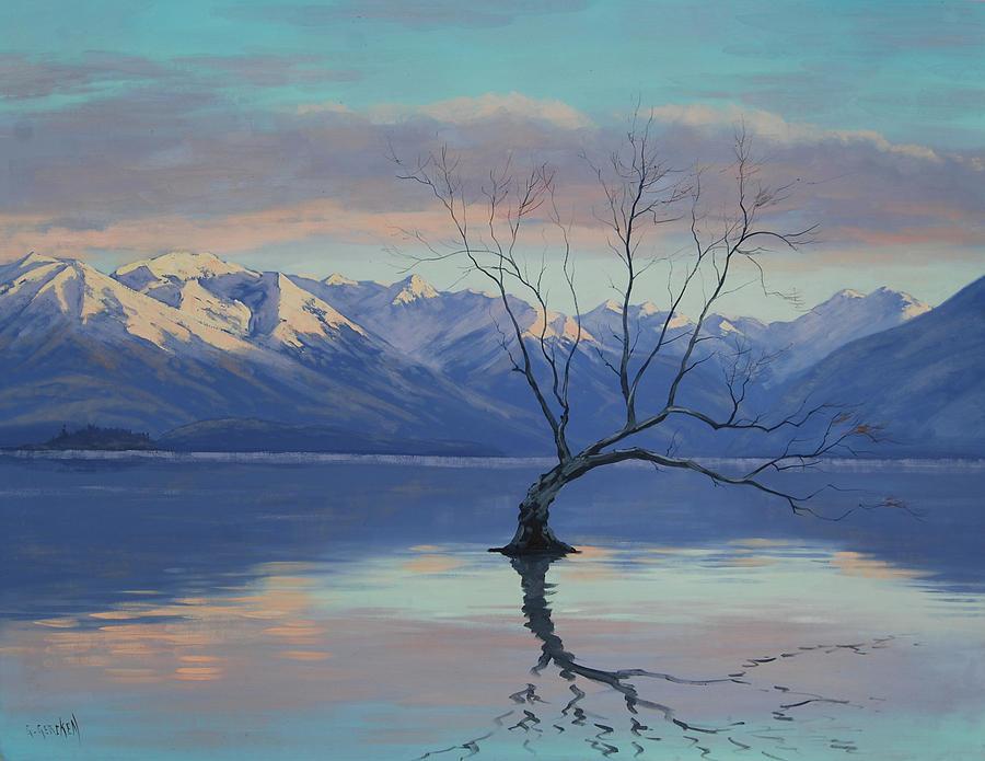 Lone Tree Painting - Lone tree by Graham Gercken