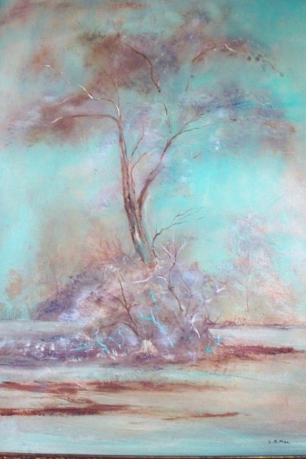 Lone Tree Painting by Lynda McDonald