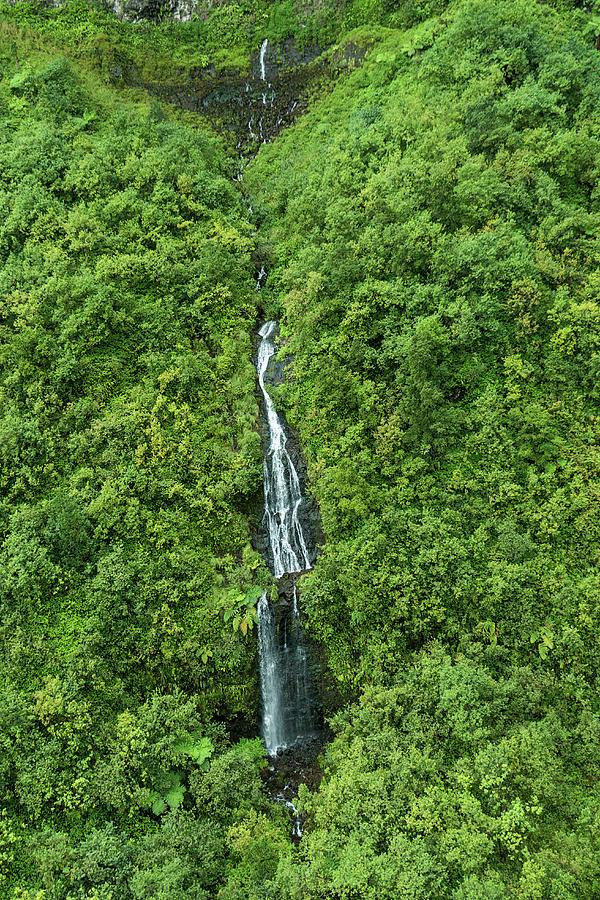 Lone Waterfall Photograph