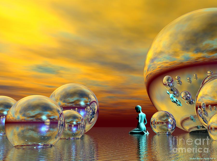 Bryce Digital Art - Loneliness by Sandra Bauser Digital Art