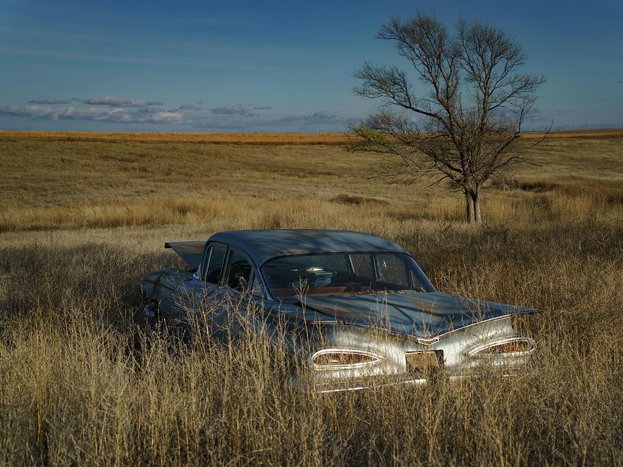 Lonely 1959 Chevrolet by Hal Mitzenmacher