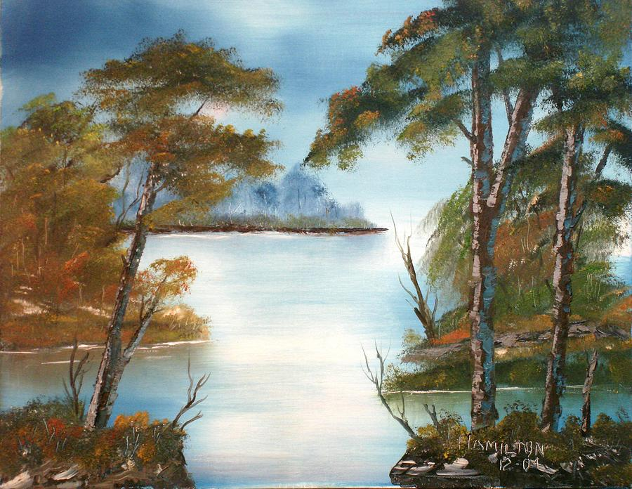Oil Painting - Lonely Bay by Larry Hamilton
