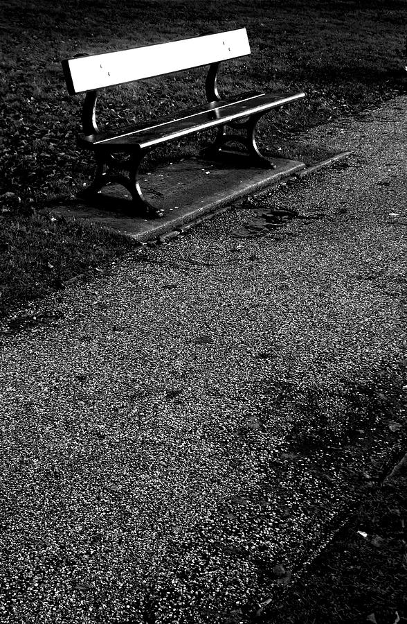 Photographer Photograph - Lonely Bench by Jez C Self