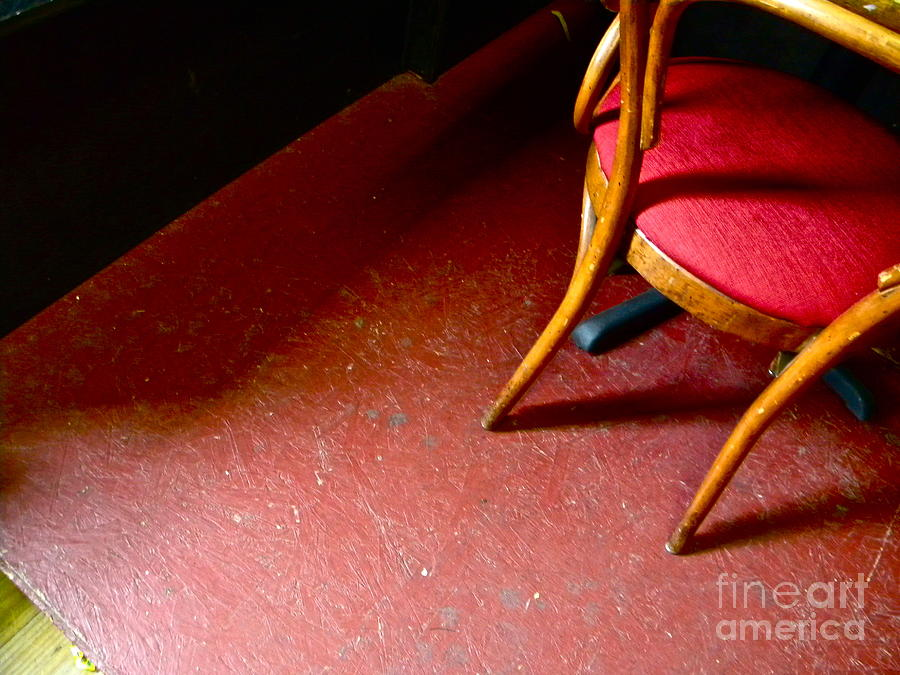 Red Photograph - Lonely Chair by Chuck Taylor