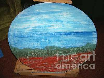 Lonely Field Of Red Painting by Robin Hester