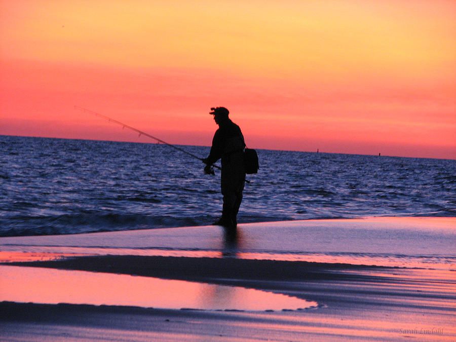 Lonely Fisherman by SJ Lindahl