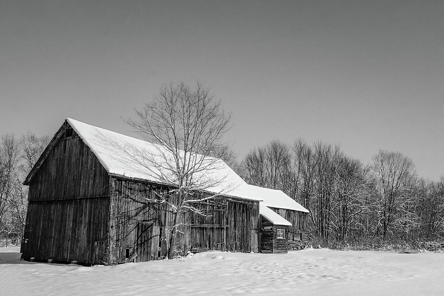 Lonely grey barn Photograph by Kendall McKernon