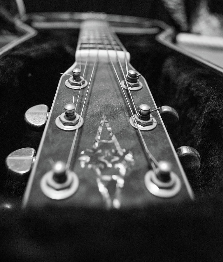 Lonely Guitar Photograph by Josiane Smith
