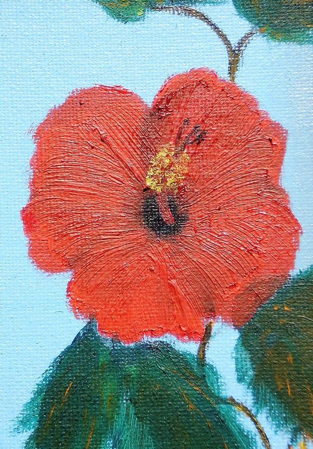 Hibiscus Painting - lonely Hibiscus  by Francis Roberts ll