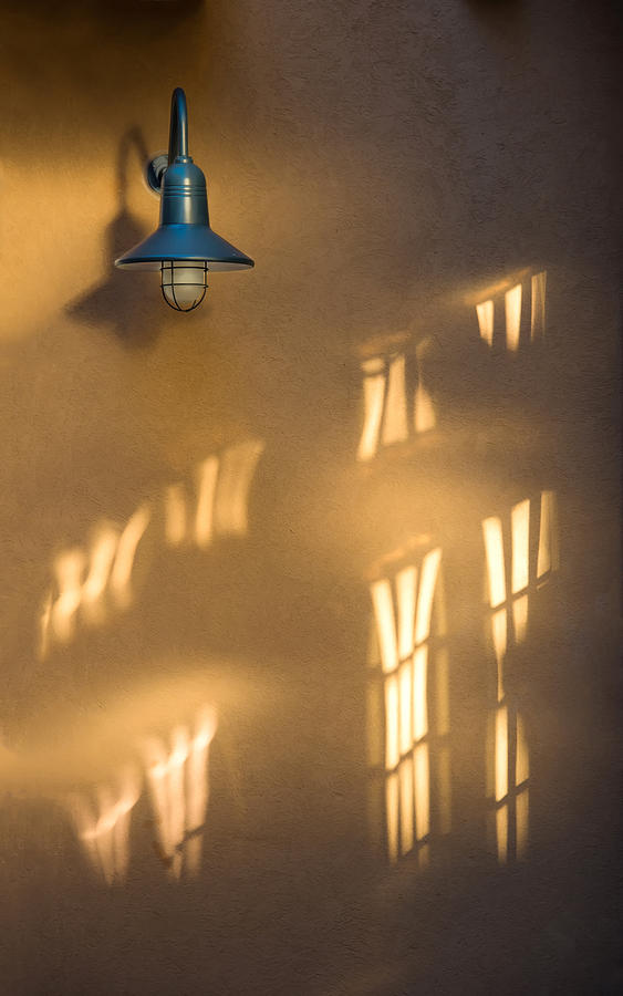 Red Bank Photograph   Lonely Lamp Among Sunrise Window Light Reflections By  Gary Slawsky