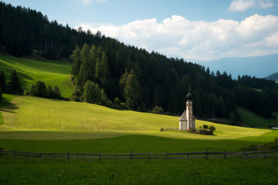 Clouds Photograph - Lonely Mounatin Chapel by Wim Slootweg