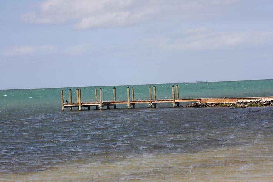 Pier Photograph - Lonely Pier by Bonnes Eyes Fine Art Photography