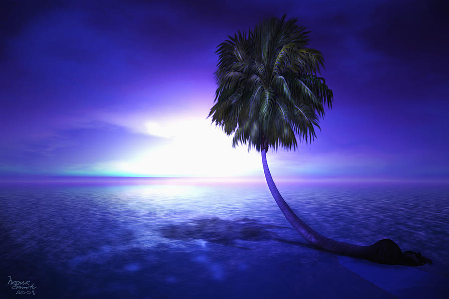 Palm Digital Art - Lonely Pine by Monroe Snook