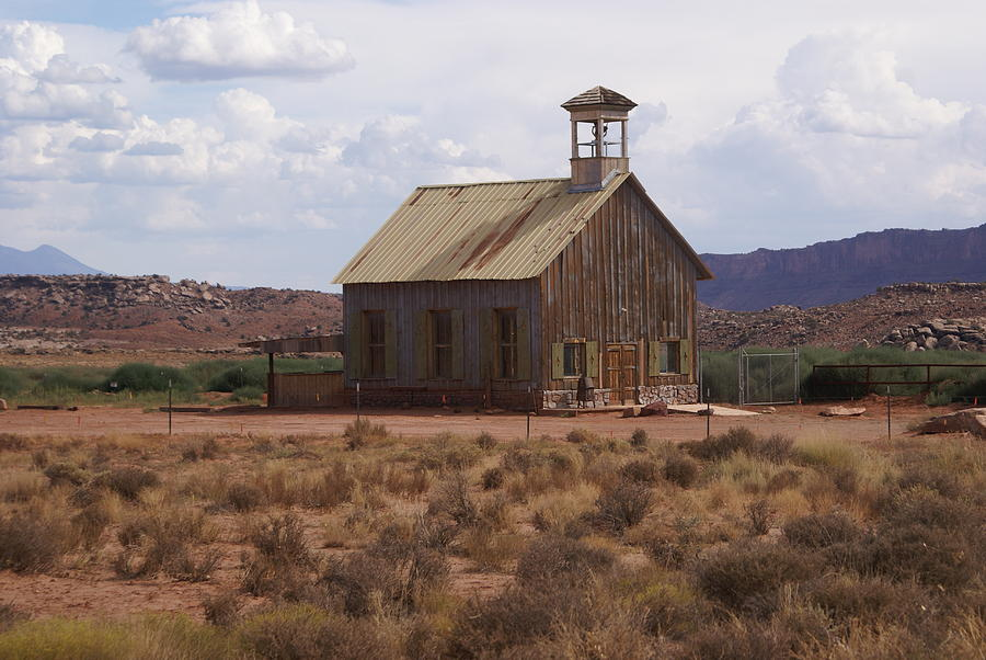 Old Building Photograph - Lonely Schoolhouse by Marty Koch