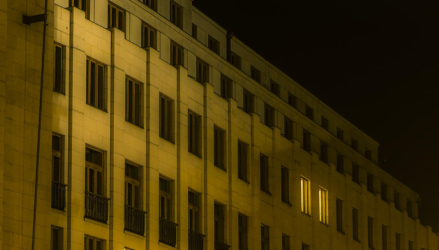 Prague Photograph - Lonely Shining Office by Marek Boguszak