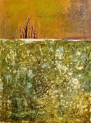 Trees Painting - Lonely Trees by Janice Webb