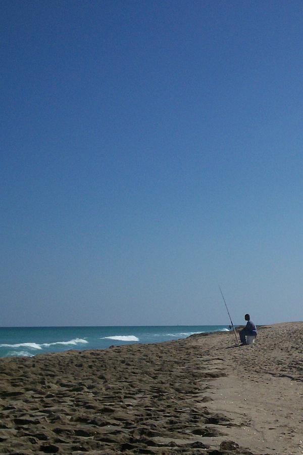 Surf Photograph - Loner by Karen Thompson