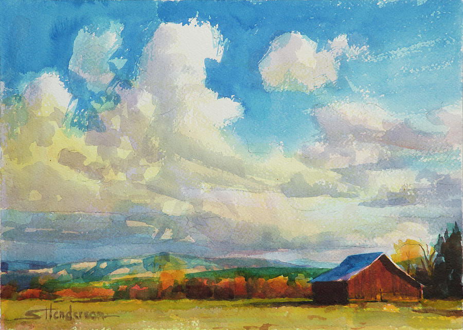 Lonesome Barn Painting