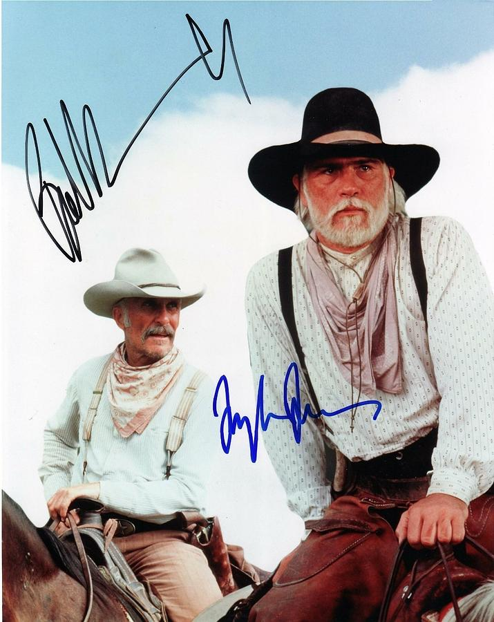 cb692dbaadb87 Lonesome Dove Gus And Call Signed Print Photograph by Peter Nowell
