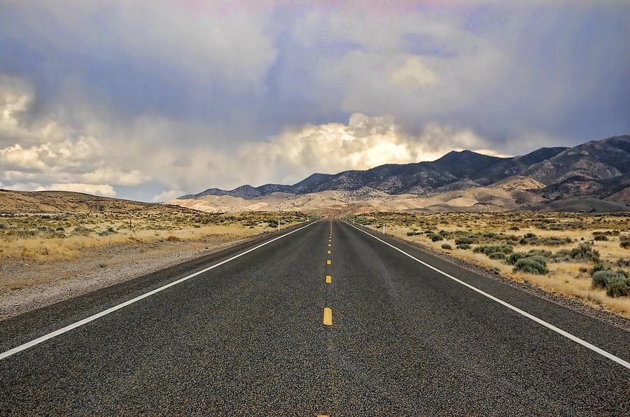 Us 50 Photograph - Lonesome Highway by Nick Roberts