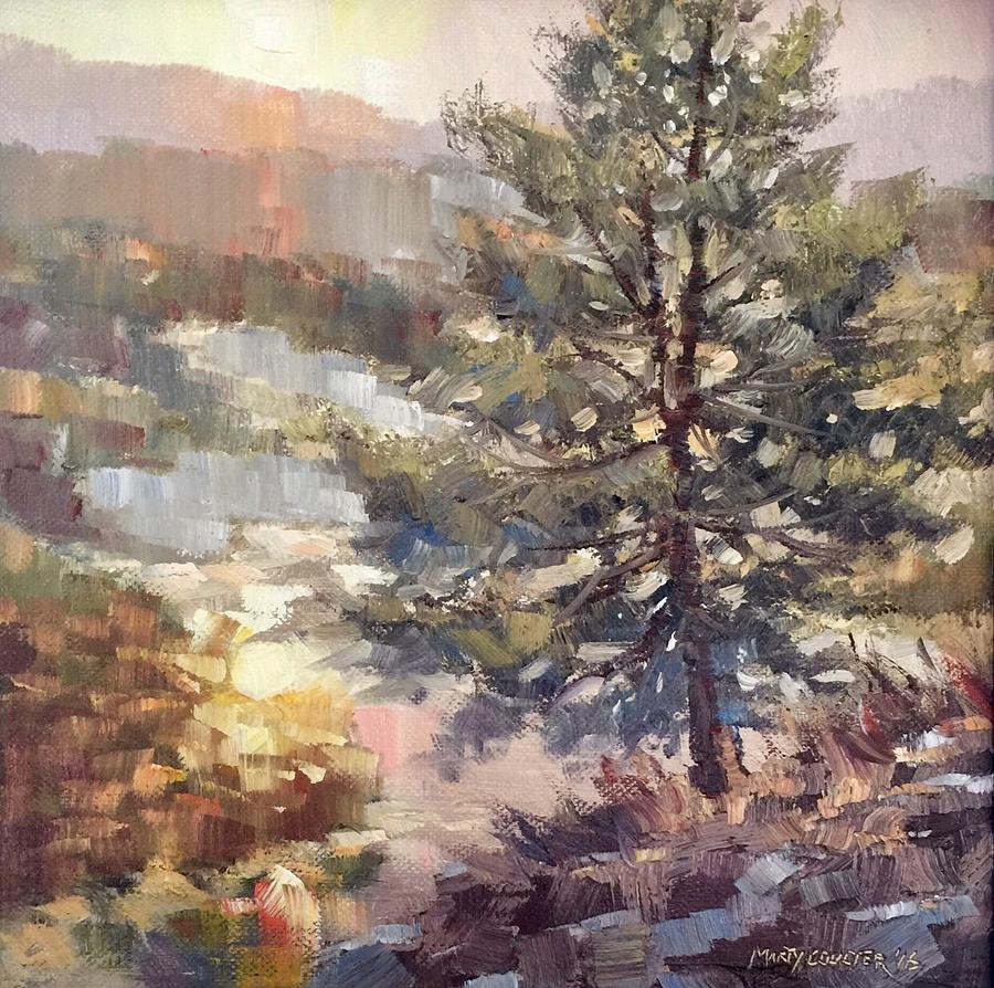 Landscape Painting - Lonesome Pine by Marty Coulter