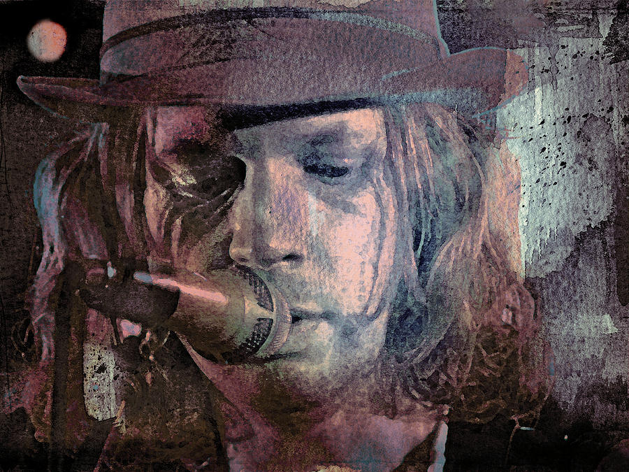 Beck Mixed Media - Lonesome Tears by Mal Bray