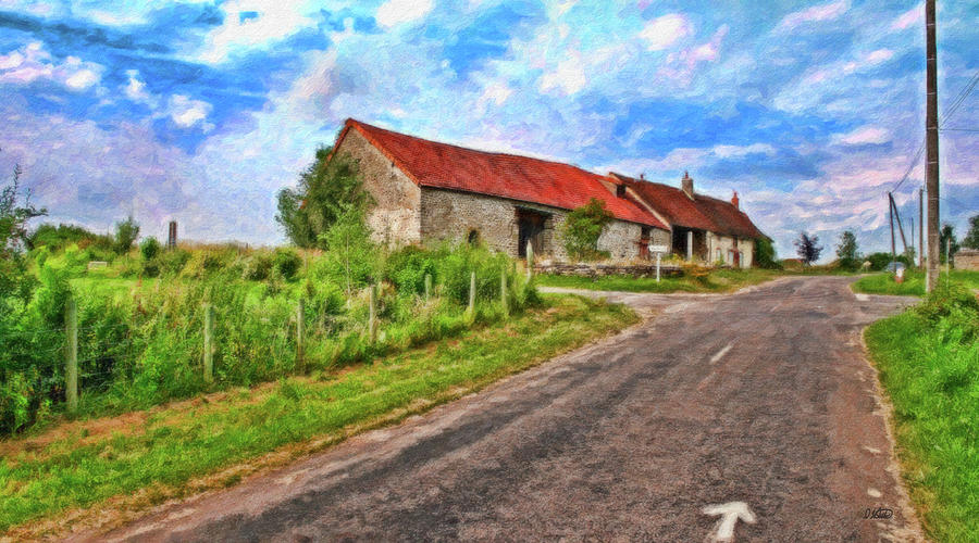 Rural Painting - Long Barns Near Avincey - P4a16016 by Dean Wittle