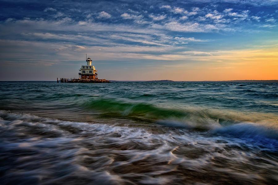 Orient Beach State Park Photograph - Long Beach Bar Lighthouse by Rick Berk