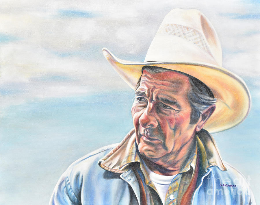 Cowboy Painting - Long Day by Suzanne Leonard