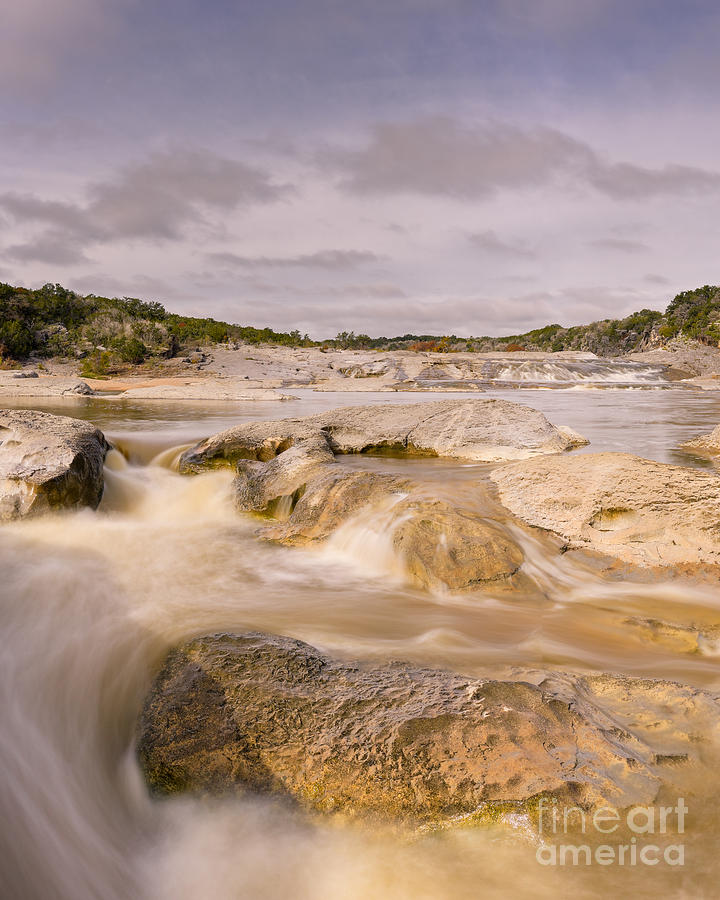 Pedernales Photograph - Long Exposure Of The Pedernales River - Pedernales Falls State Park Texas Hill Country by Silvio Ligutti