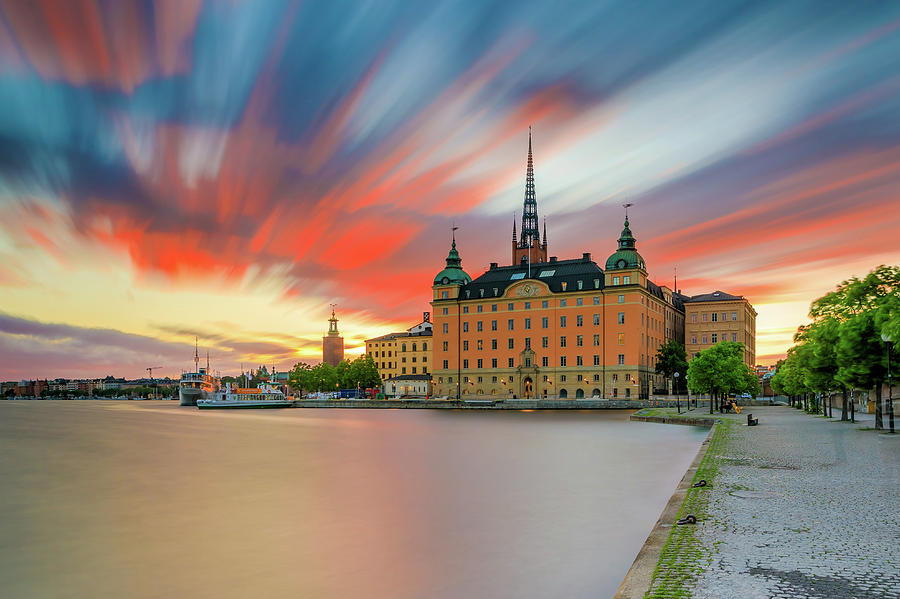 Stockholm Photograph - Long Exposure Stockholm Sunset by Dejan Kostic