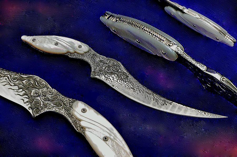Knife Sculpture - Long Horn by Romas Banaitis