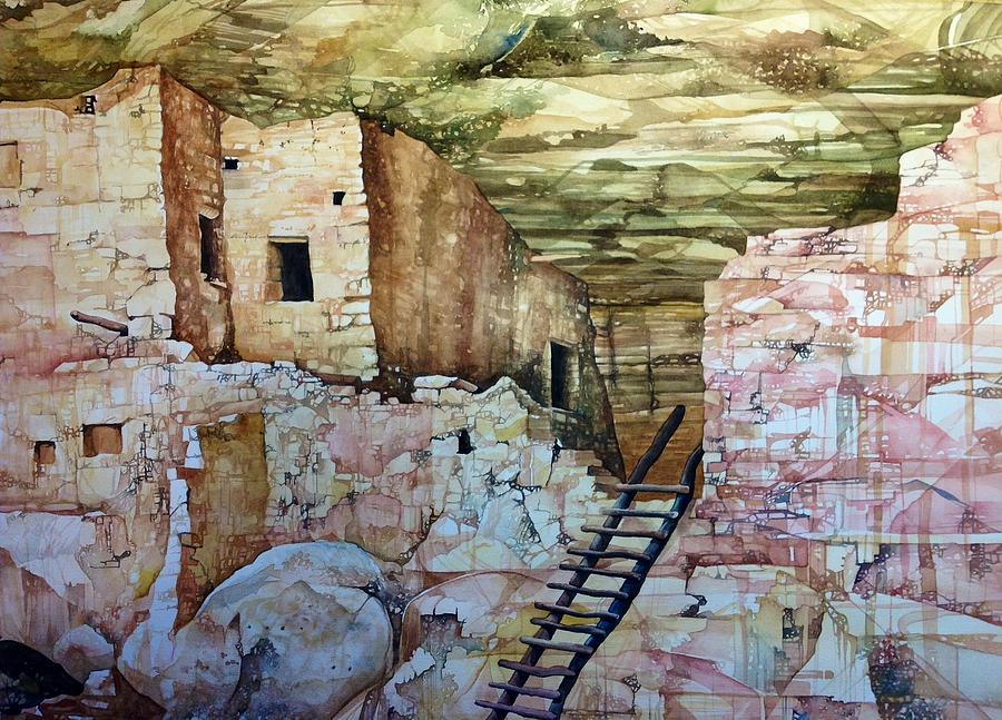Long House Painting - Long House, Mesa Verde National Park by Lance Wurst