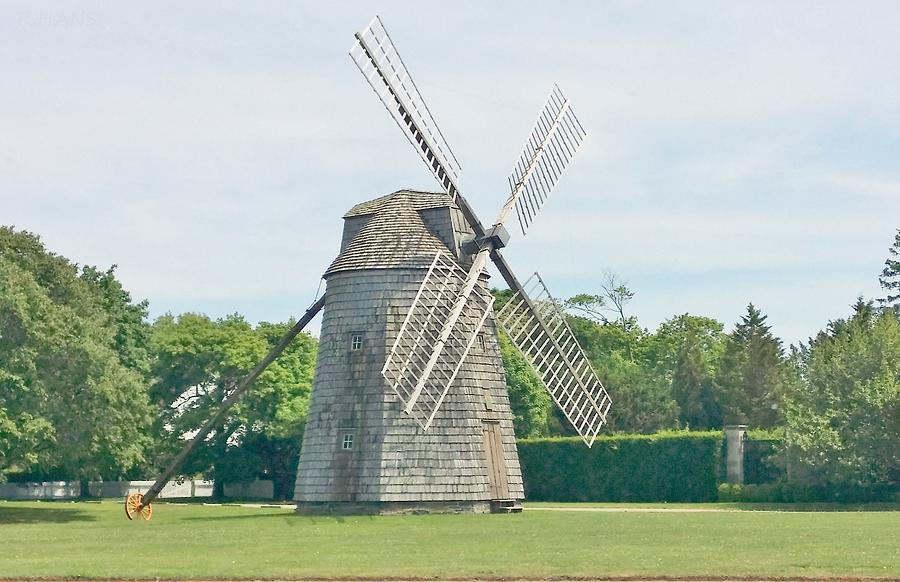 Windmills Photograph - Long Island Wind Mill by Rob Hans