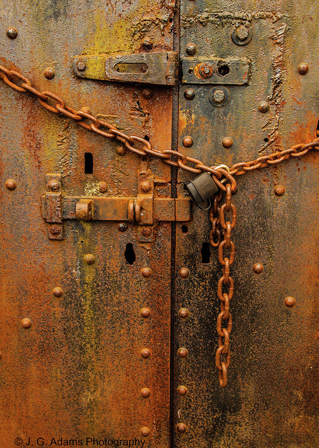 Long Locked Iron Door by Jim Adams