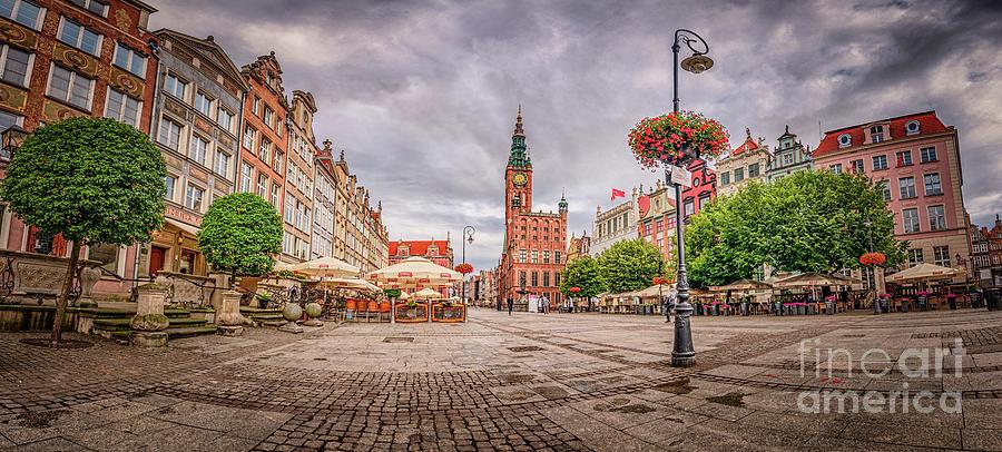 Long Market Panoramic Photograph