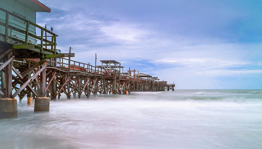 St. Petersburg Photograph - Long Pier At Redington by Todd Rogers