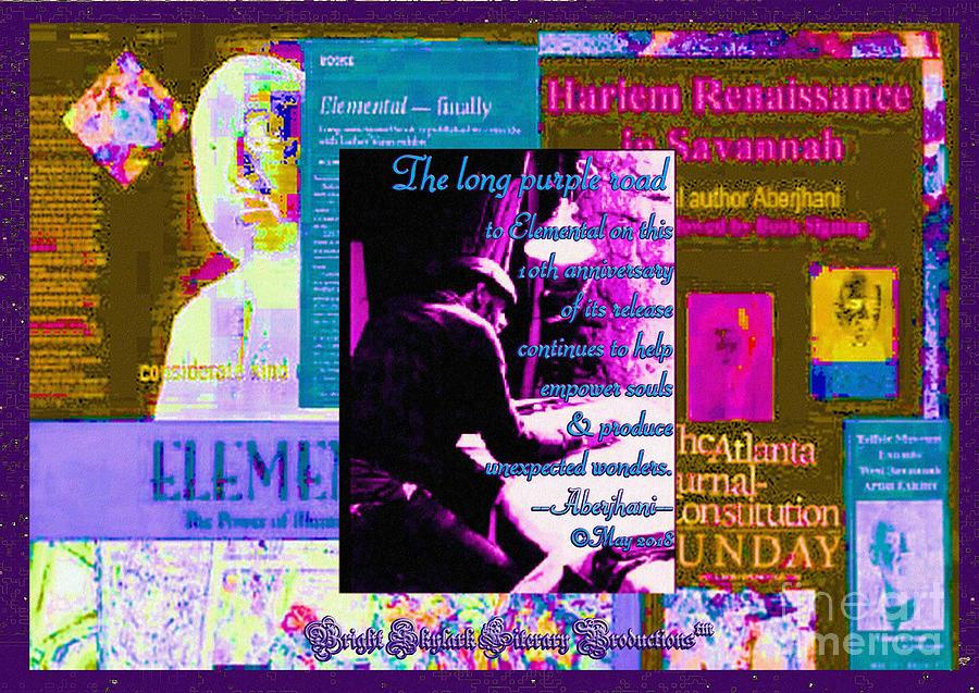 Mixed Media Mixed Media - Long Purple Road to Elemental by Aberjhani