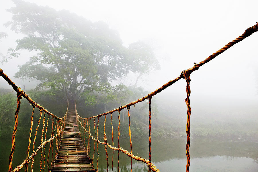 Absence Photograph - Long Rope Bridge by Skip Nall