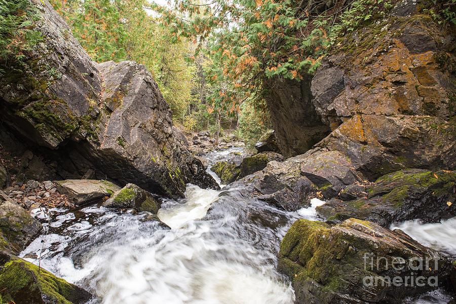 Waterfall Photograph - Long Slide Falls - Waterfall Wisconsin by Nikki Vig